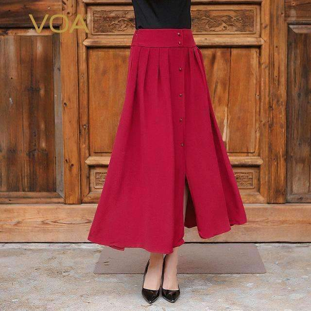 Womens Pleated Long Skirt-[product_tag]-My MALL Metro