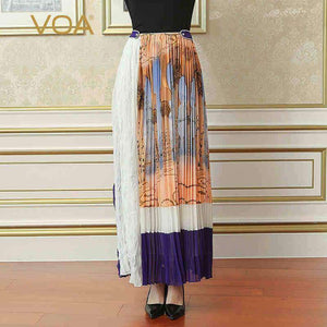 Womens Pearl Clasp Print Boho Skirt-[product_tag]-My MALL Metro