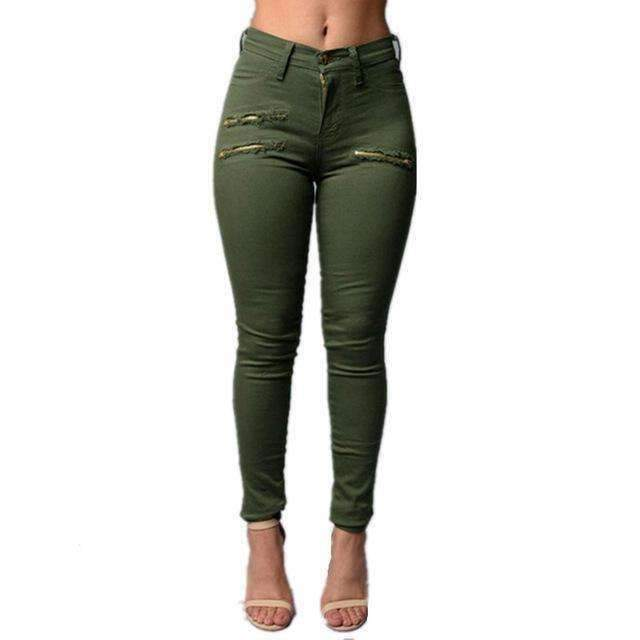 Womens Ripped Zipper Jeans-[product_tag]-My MALL Metro