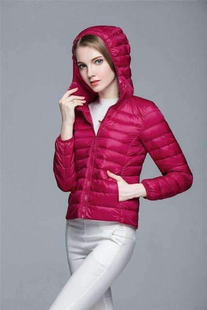 Womens Light Down Coat Outwear Jacket-[product_tag]-My MALL Metro