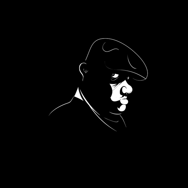 Notorious B.I.G. portrait by Antony Hare (high-res digital illustration)