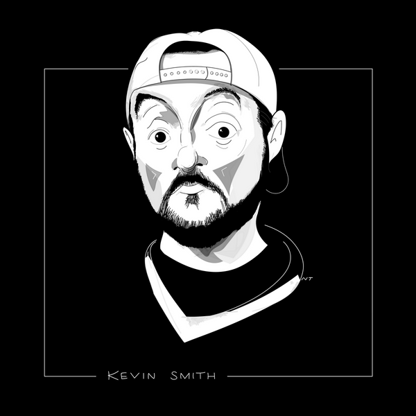 Kevin Smith portrait (high-res digital illustration)
