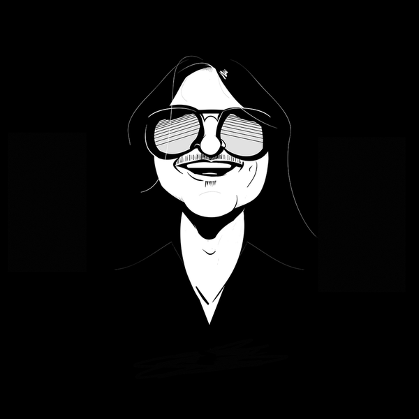 Mitch Hedberg (high-res digital illustration)