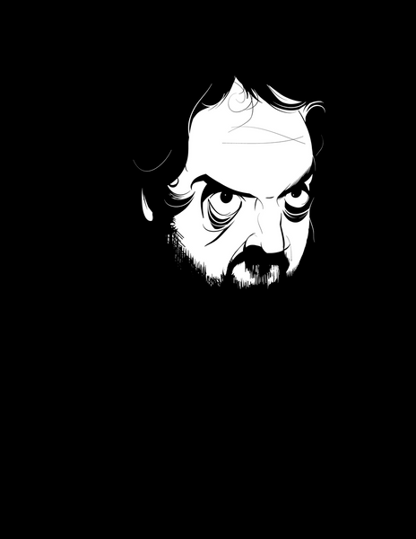 Stanley Kubrick (high-res digital illustration)