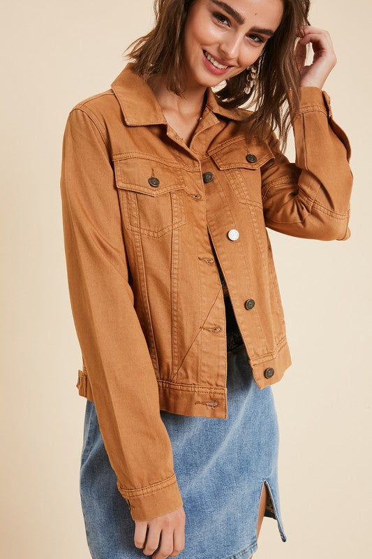 Parker Denim Jacket in Camel
