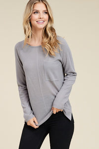 Reagan Sweater in Heather Grey