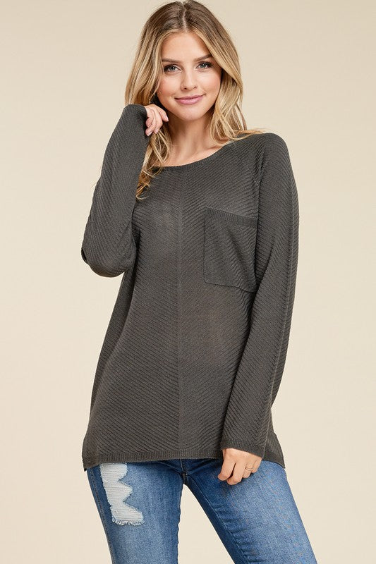 Reagan Sweater in Charcoal