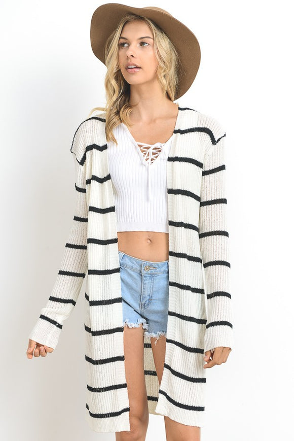 Coastal Stripes Cardigan