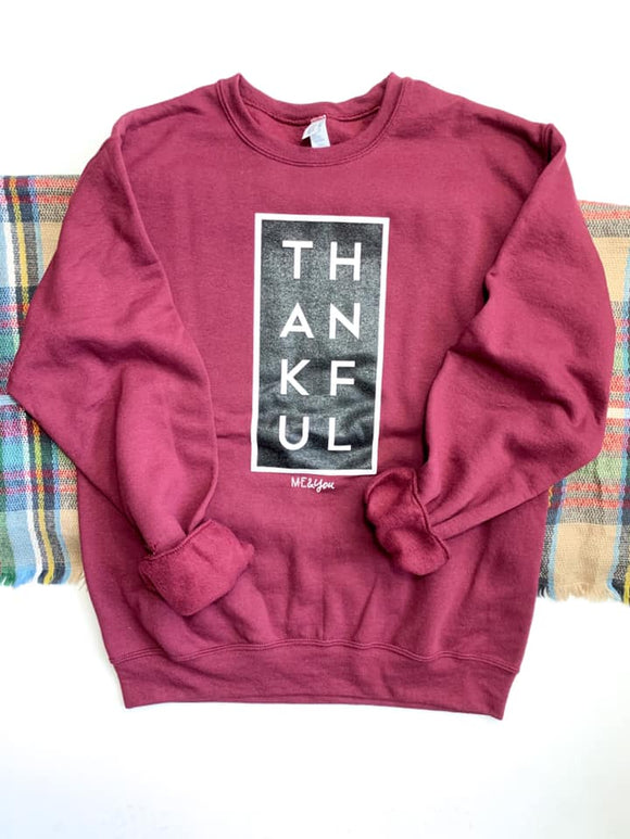 THANKFUL Cranberry Sweatshirt