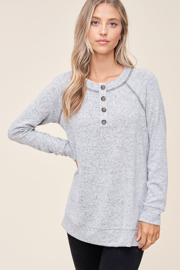 Casey Top in Grey