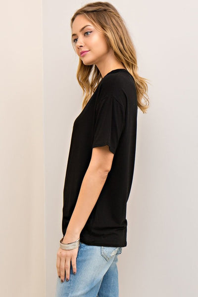 Night on the Town Cut Out Top