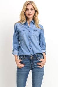Chic In Chambray Shirt
