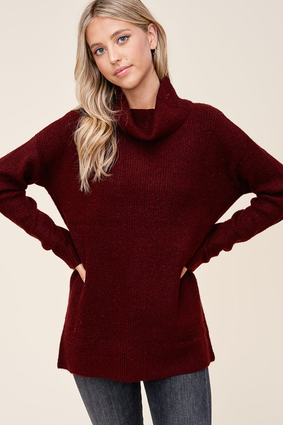 Mandy Sweater in Burgundy
