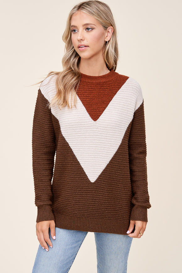 Adeline Sweater in Chocolate
