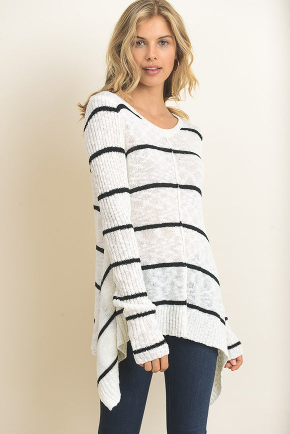 Coastal Stripes Sweater Top