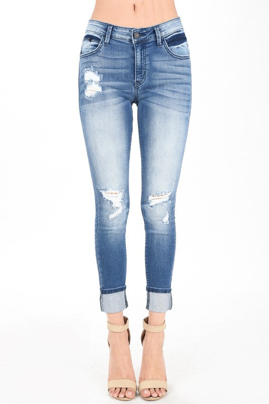 Christina Cropped Skinny Jeans
