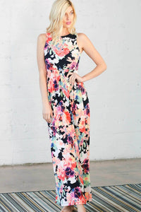 Watercolor Floral Maxi Dress