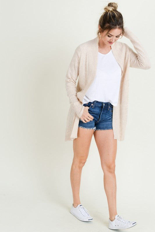 Falling For You Cardigan in Beige