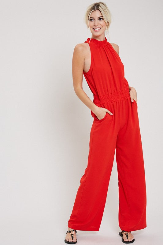 Rosie Jumpsuit in Tomato