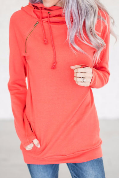 Coral Double Hoodie