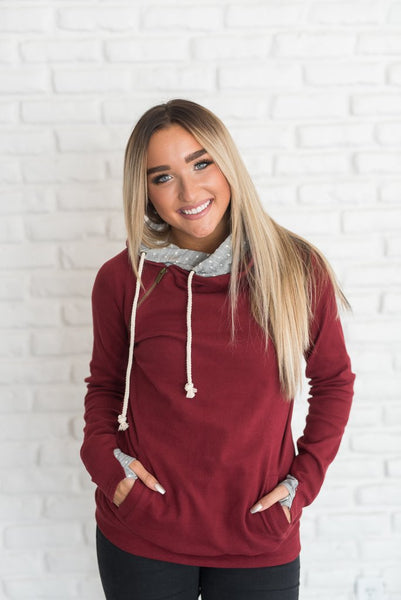 Cranberry Polka Dot Double Hoodie