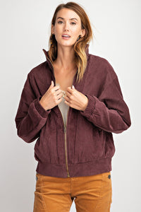 Victoria Jacket in Plum