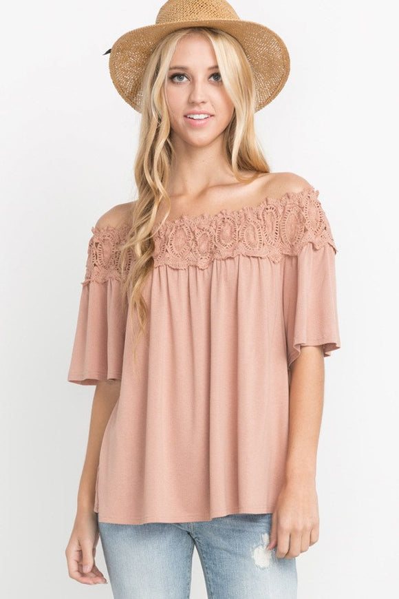 Boho Dreams Off the Shoulder Top
