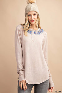 Audrey Embroidered Top