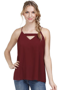 Ideal Journey Top in Burgundy