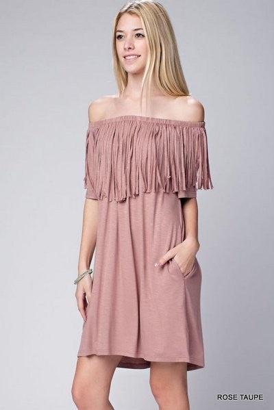 Free Spirit Tassel Dress // More Color Options