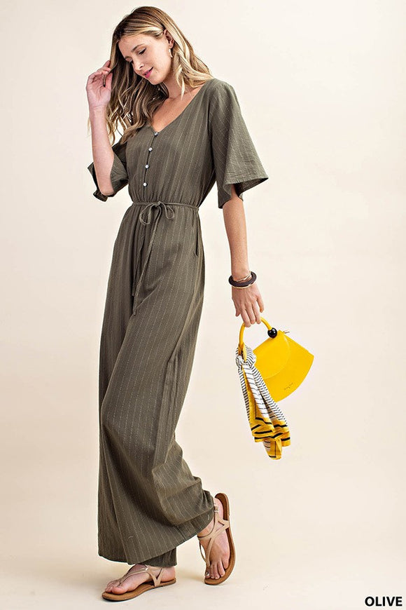 Grace Jumpsuit in Olive