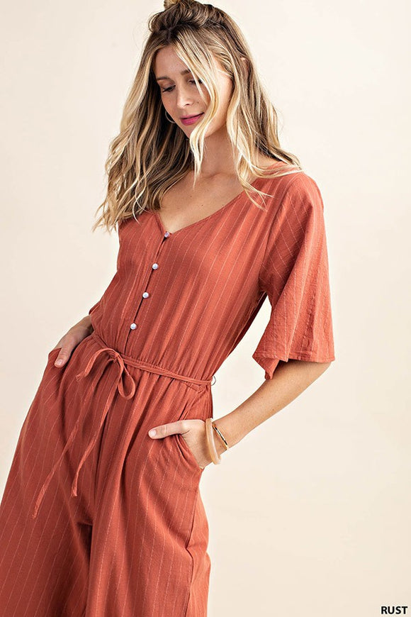 Grace Jumpsuit in Rust