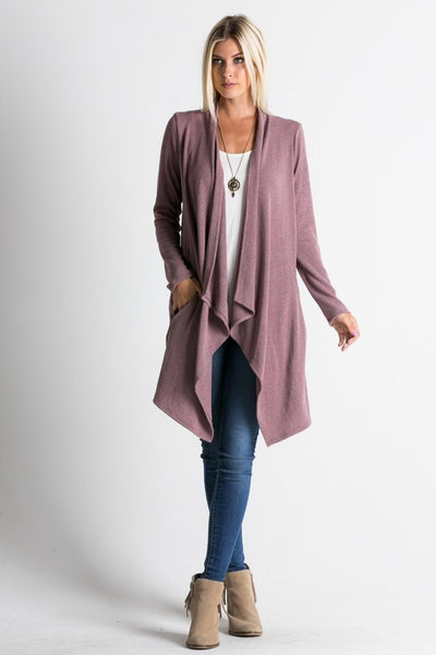Draped Open Front Cardigan // More Color Options