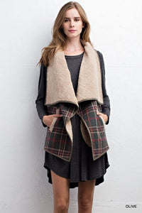 Hunter Green Plaid Vest