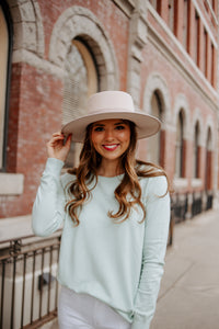 Sammy Sweater in Light Turquoise