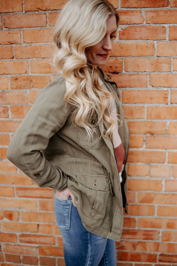 Colbie Jacket in Olive