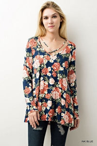 Criss Cross Floral Top