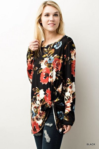 Flirty in Floral Top // More Color Options