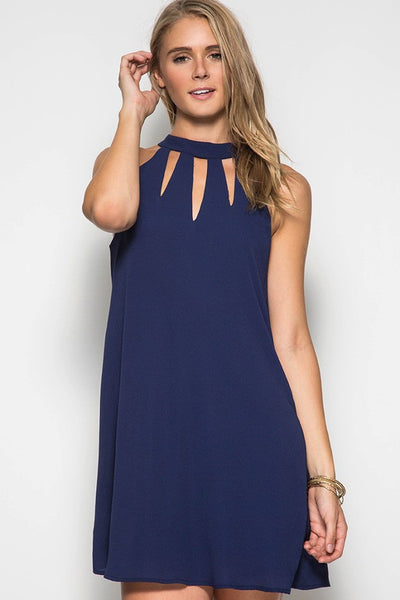 Halter Cut Out Dress // More Color Options
