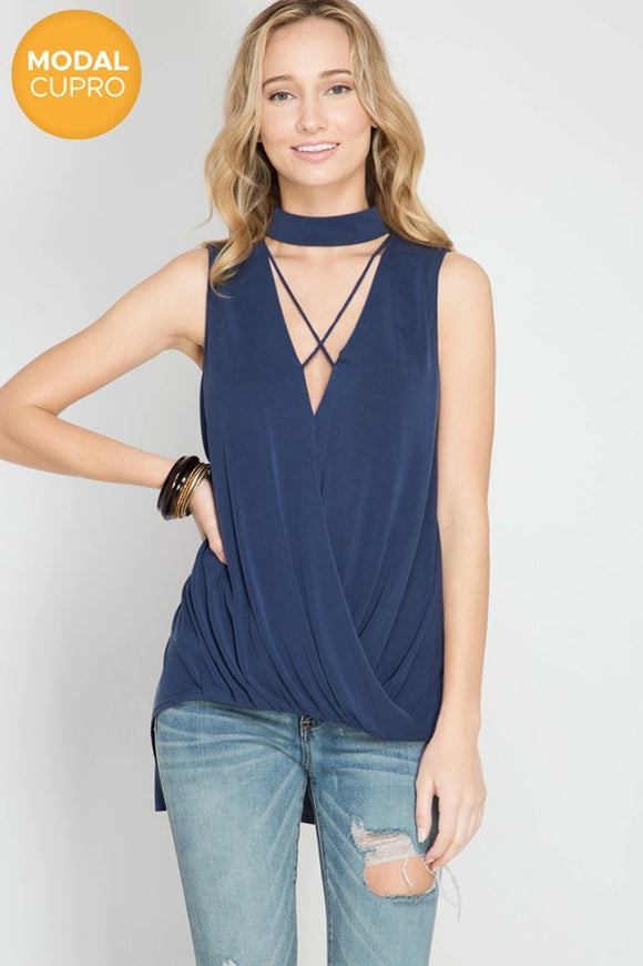 Date Night Cross Front Top // More Color Options