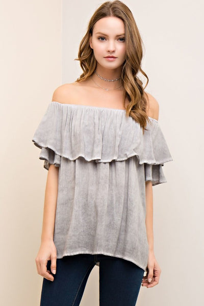 Keep Me Blushing Off The Shoulder Top