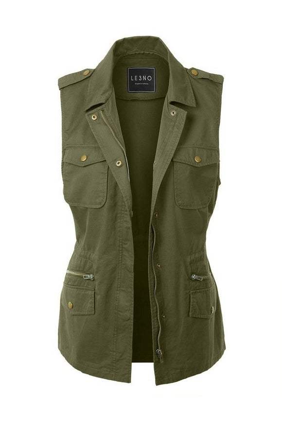 Military Vest // More Color Options