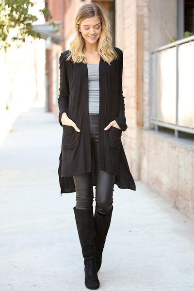 In The Moment Black Cardigan