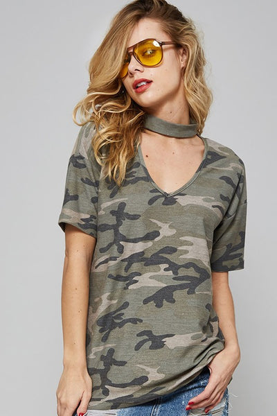 Catch Me in Camo Top