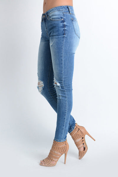 Perry Distressed Skinny Jeans