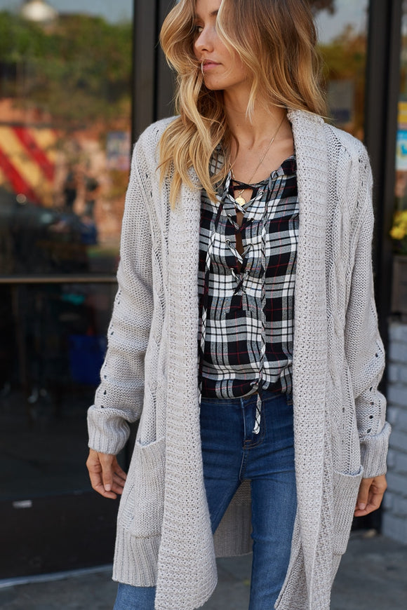 Cozy Cable Sweater Cardigan