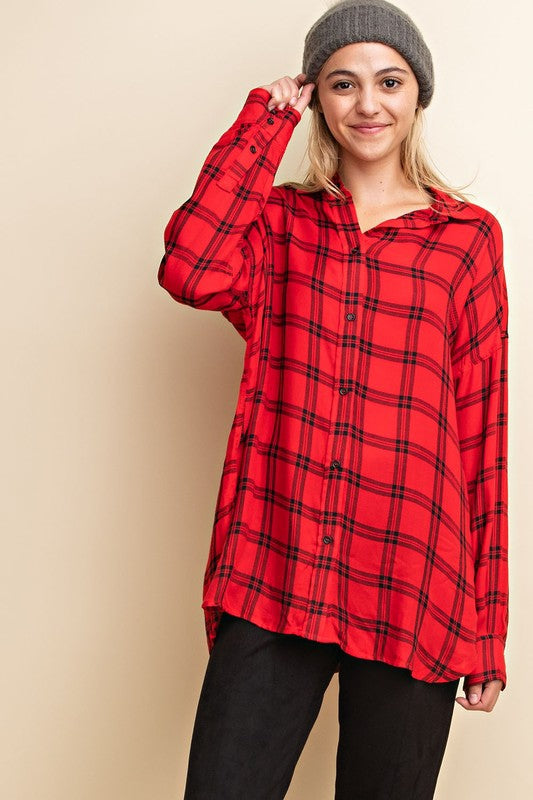 Kinley Plaid Button-Down