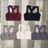 Lace Racer Back Bralette // More Color Options