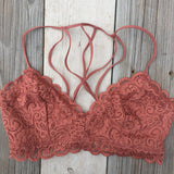 Caged Back Lace Bralette // More Color Options