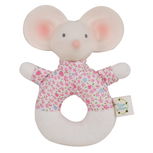Meiya the Mouse - Soft Round Rattle with Rubber Head